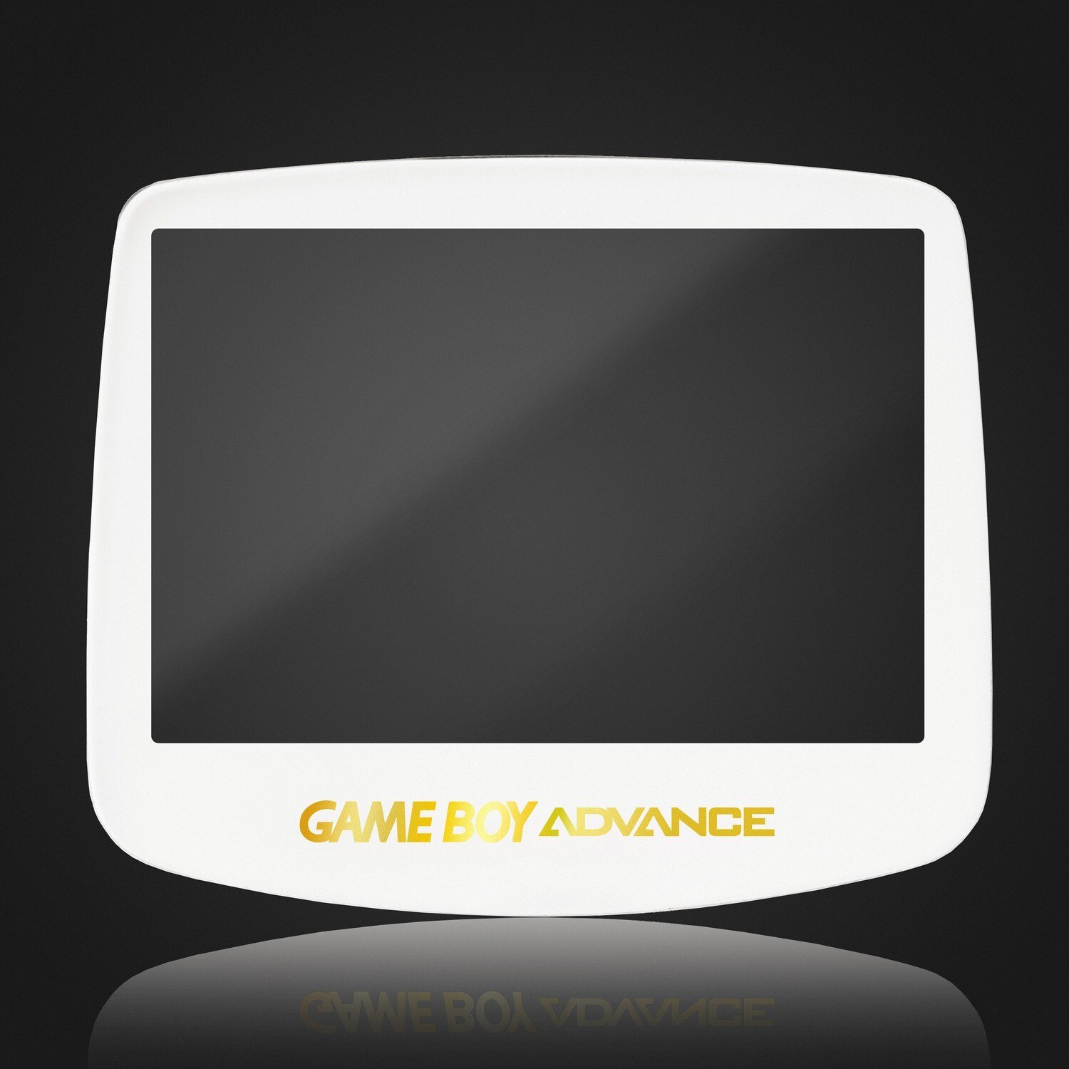 Game Boy Advance IPS Glass Screen (White Gold Holographic)