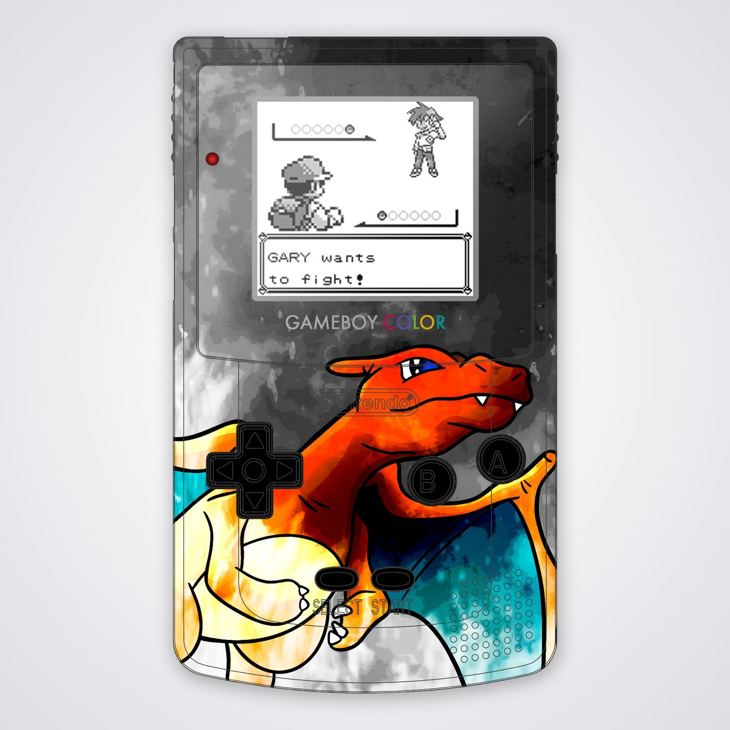 Game Boy Color Printed Shell (Art Charizard)