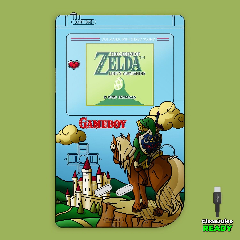 Game Boy Original IPS USB-C UV Shell Kit (Zelda Link Field)