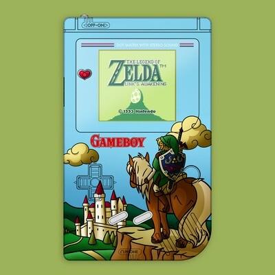 Game Boy Original IPS UV Shell Kit (Zelda Link Field)