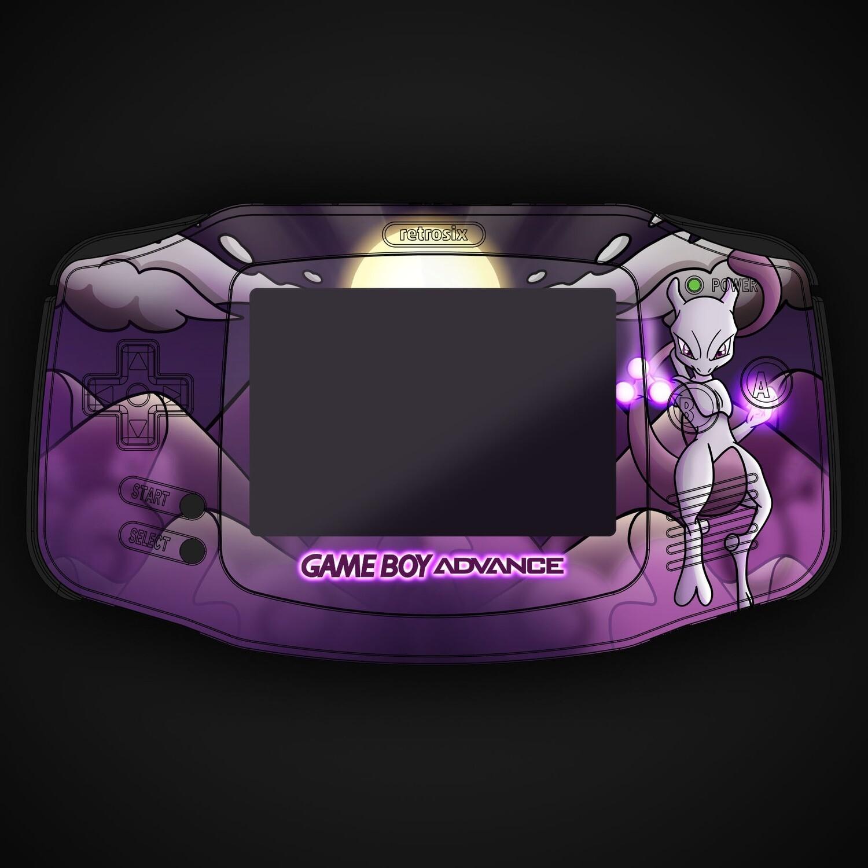 Game Boy Advance IPS UV Print Shell Kit (Mewtwo Pokemon)