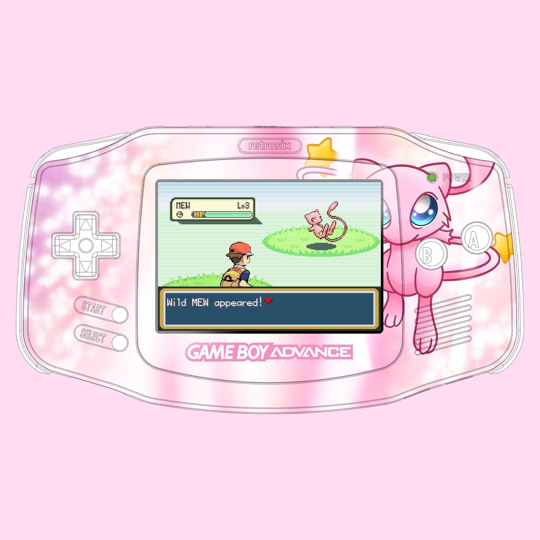 Game Boy Advance IPS UV Print Shell Kit (Mew Pokemon)