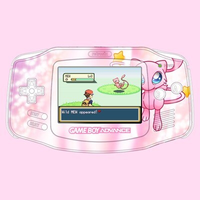 Game Boy Advance IPS UV Print Shell Kit (Mew Pokemon)