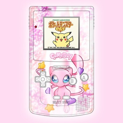 Game Boy Color UV Print Shell Kit (Mew Pokemon)