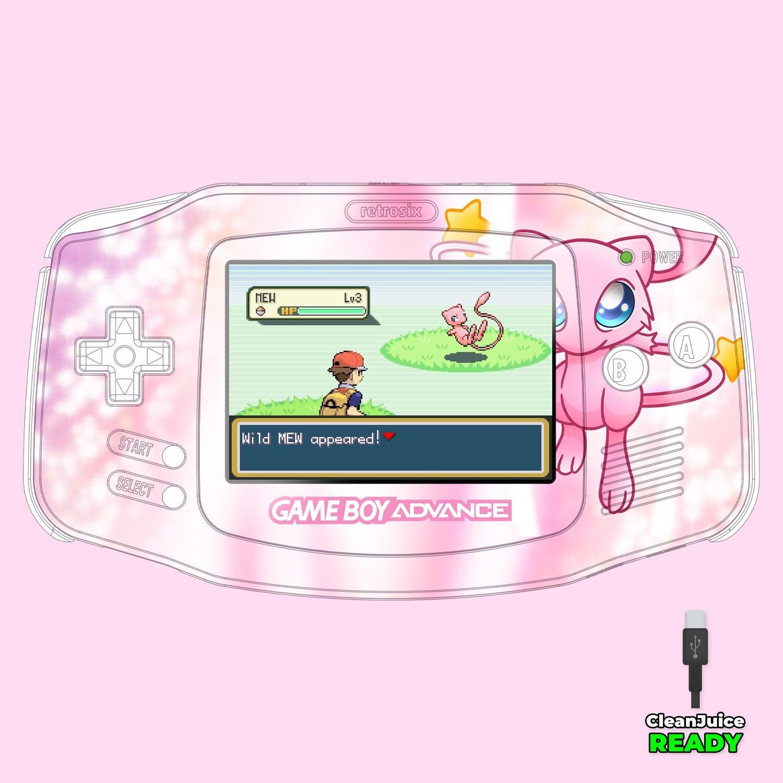 Game Boy Advance IPS USB-C UV Print Shell Kit (Mew Pokemon)