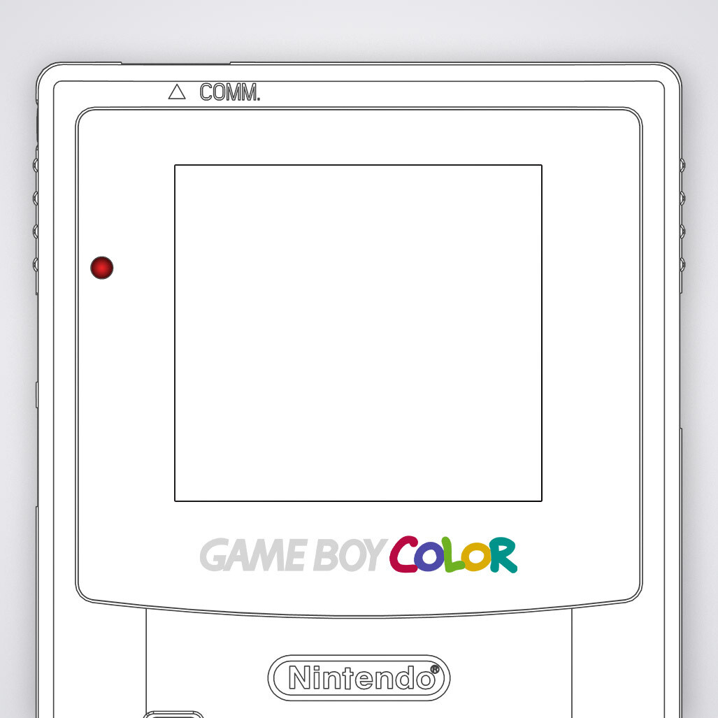 Game Boy Color Printed Glass Screen (Design Your Own)