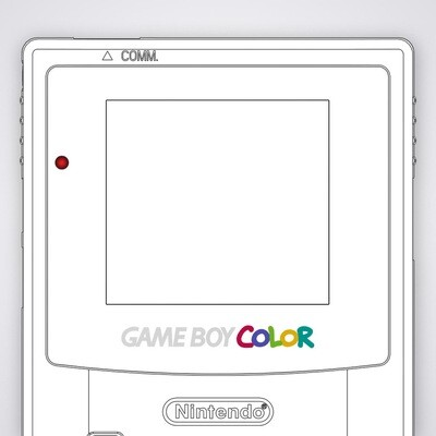 Game Boy Color UV Print Glass Screen (Design Your Own)