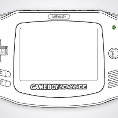 Game Boy Advance Printed Glass Screen (Design Your Own)
