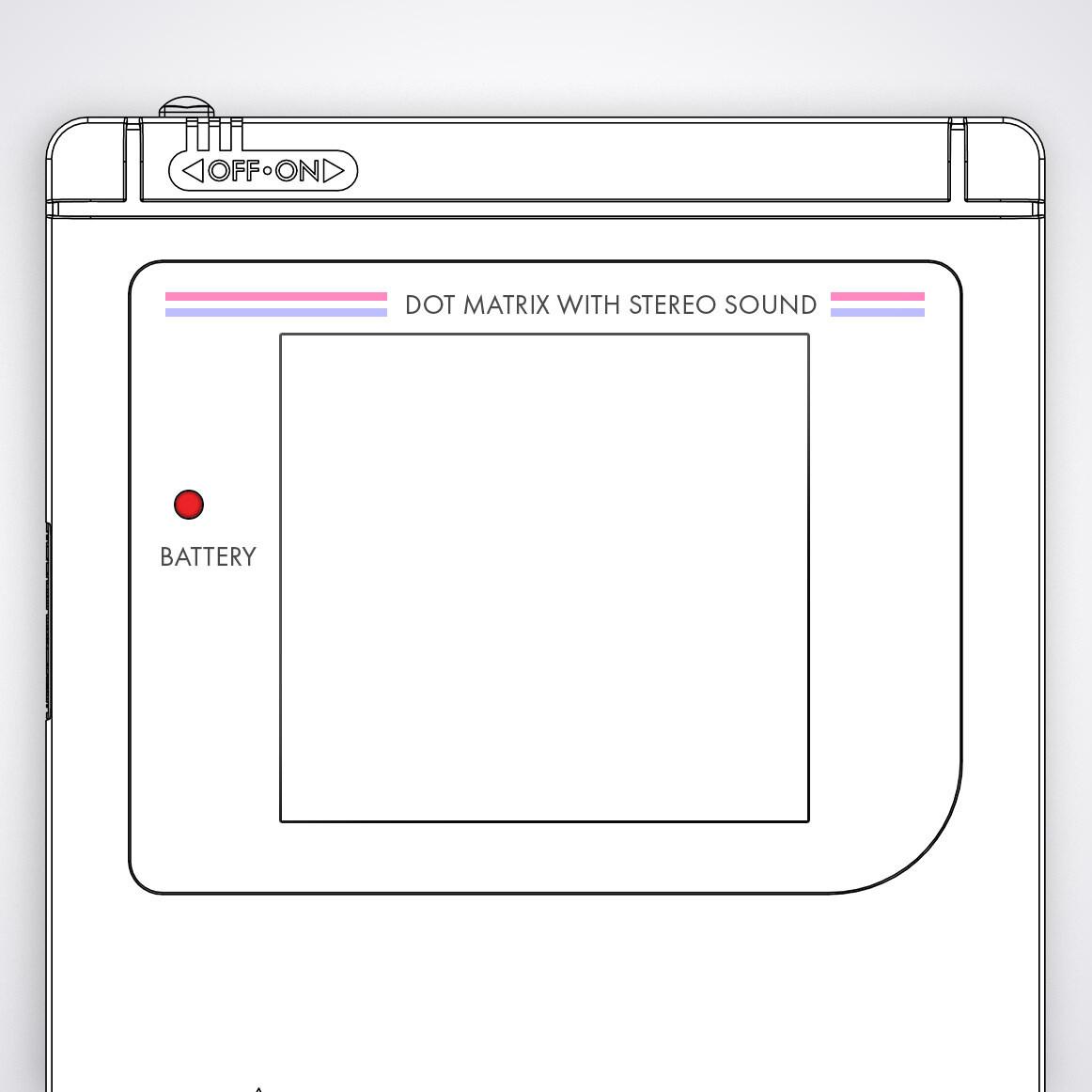 Game Boy Original Printed Glass Screen (Design Your Own)