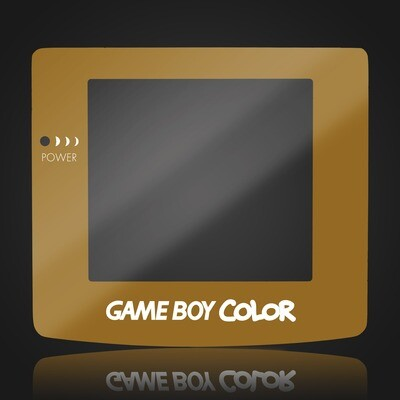 Game Boy Color Glass Screen (Gold)