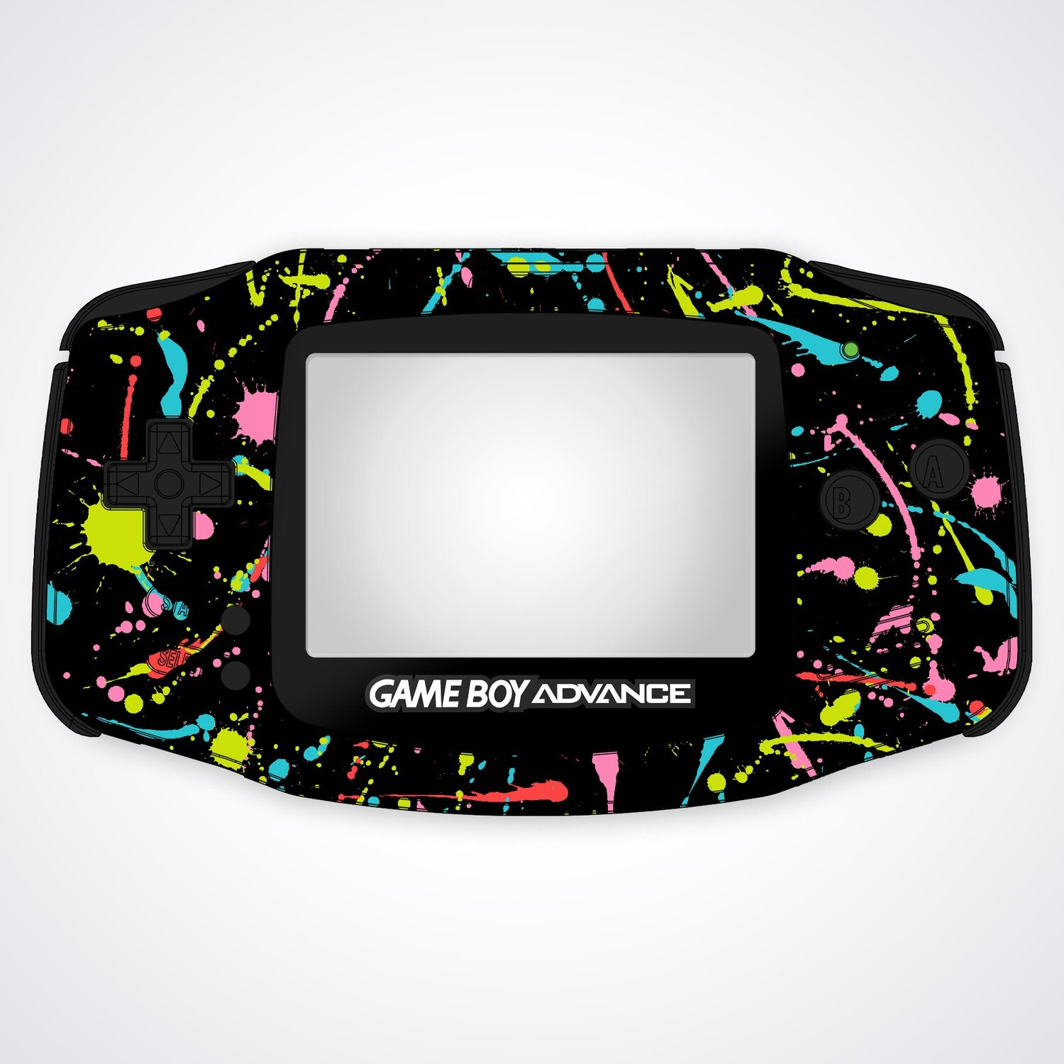 Game Boy Advance UV Print Shell Kit (Splash)