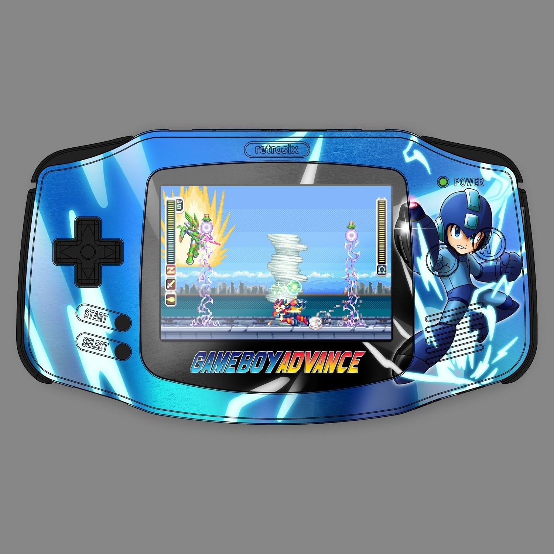 Game Boy Advance IPS UV Print Shell Kit (Megaman)