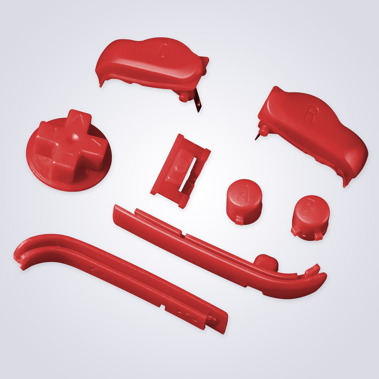 Game Boy Advance Buttons (Solid Red)