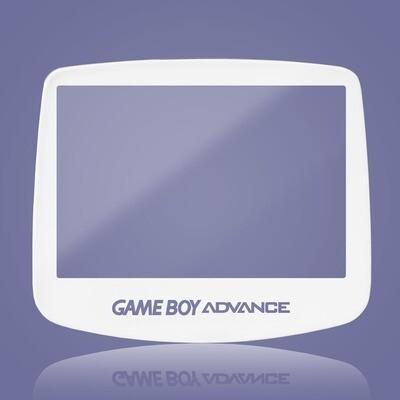 Game Boy Advance IPS Glass Screen (White Transparent Text)