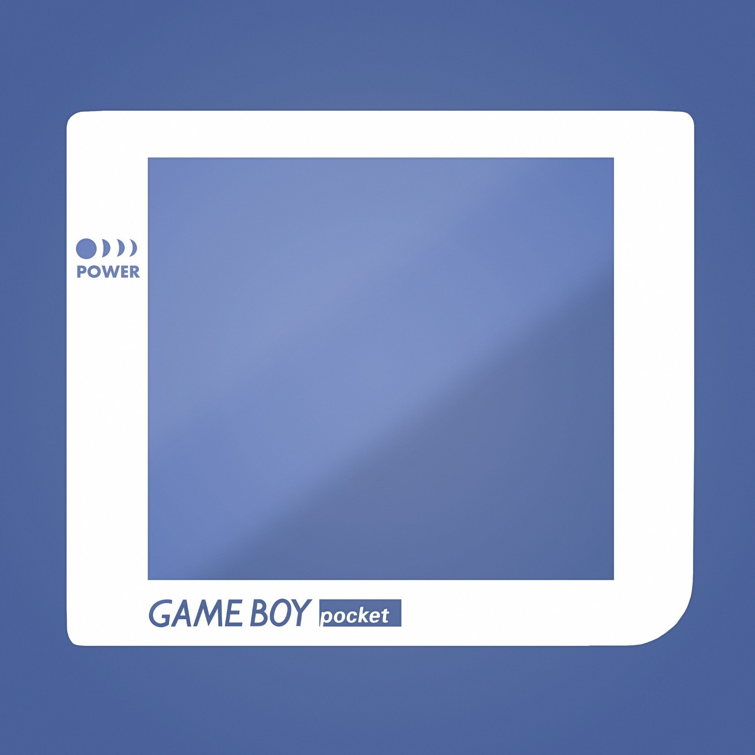 Game Boy Pocket Glass Screen (White Transparent Text)