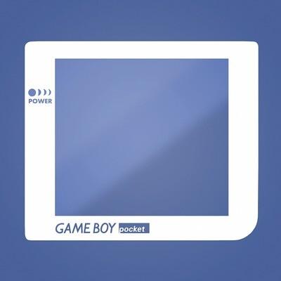 Game Boy Pocket Glass Screen (White Transparent Text)