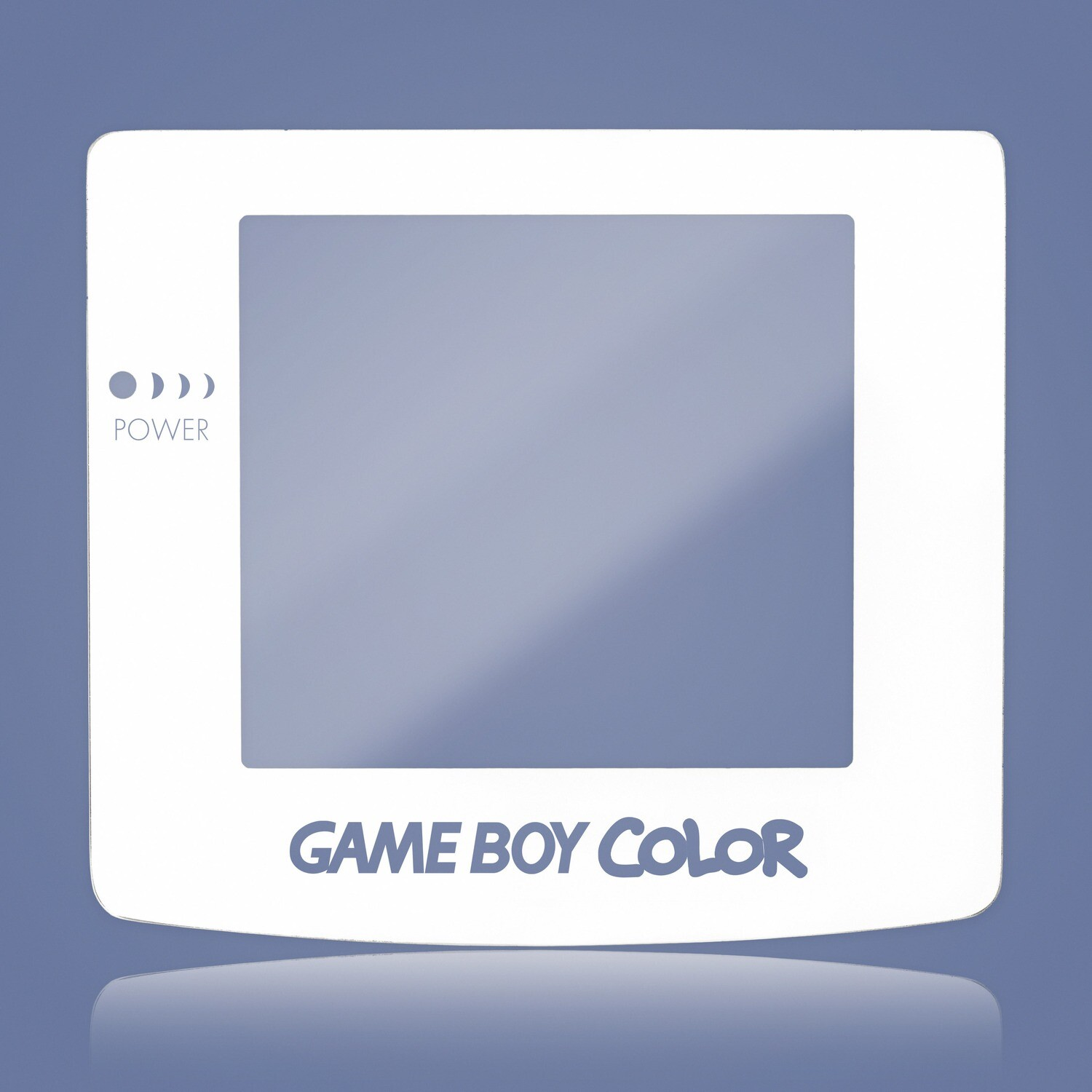 Game Boy Color Glass Screen (White Transparent Text)