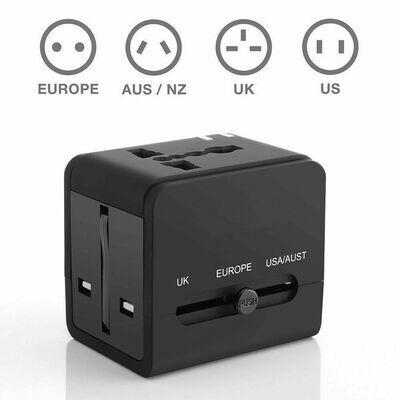 Universal Travel Plug Adapter + 2x USB