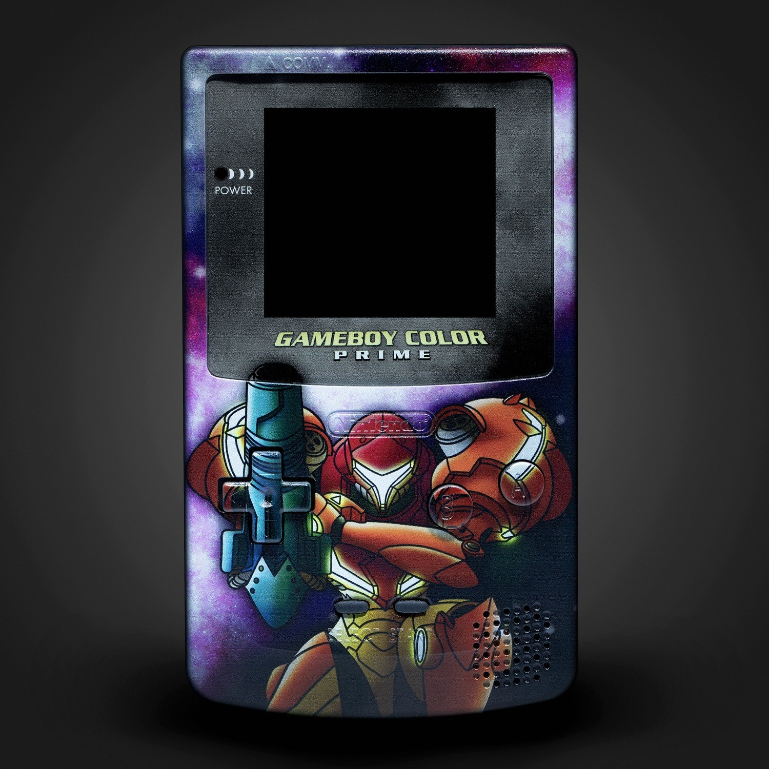 Game Boy Color Printed Shell (Metroid B)