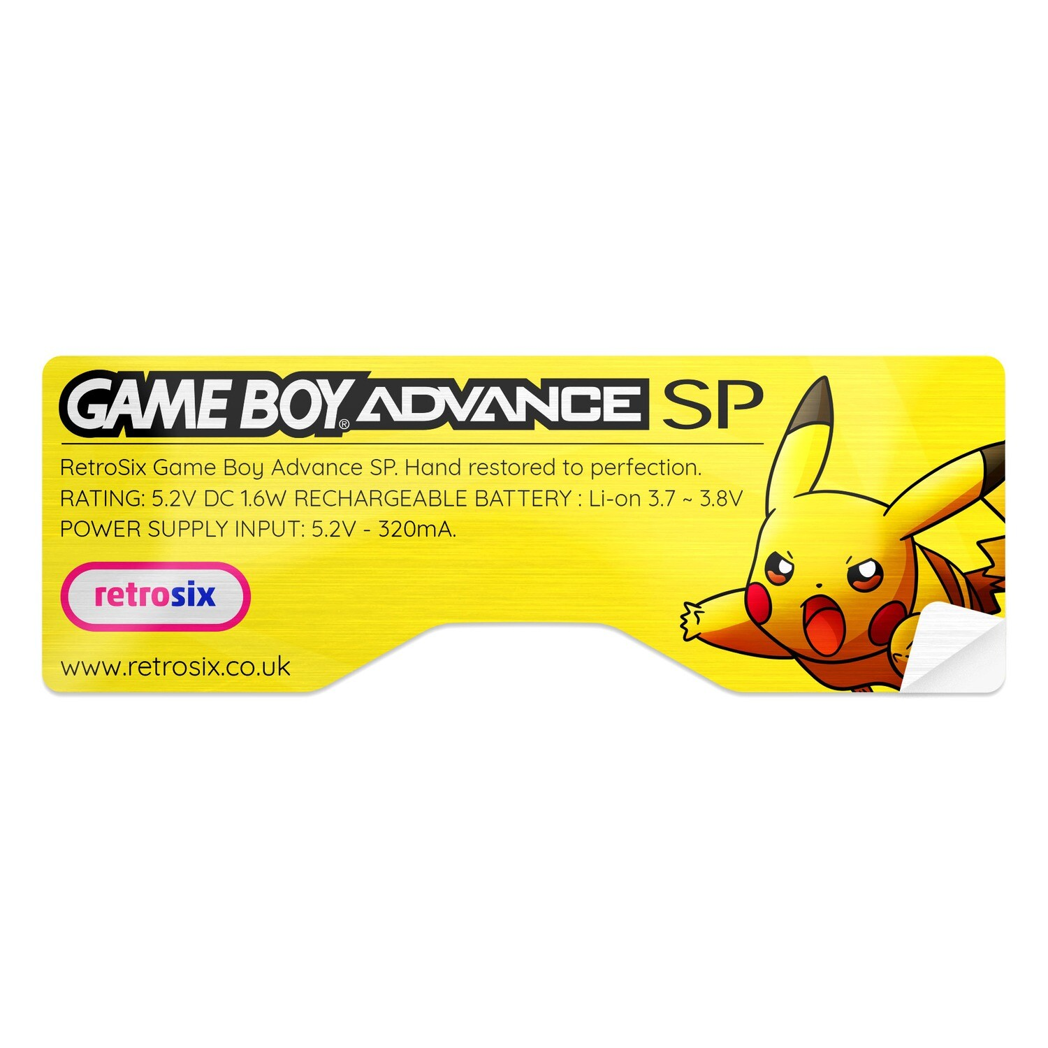 Game Boy Advance SP Sticker (Pikachu)