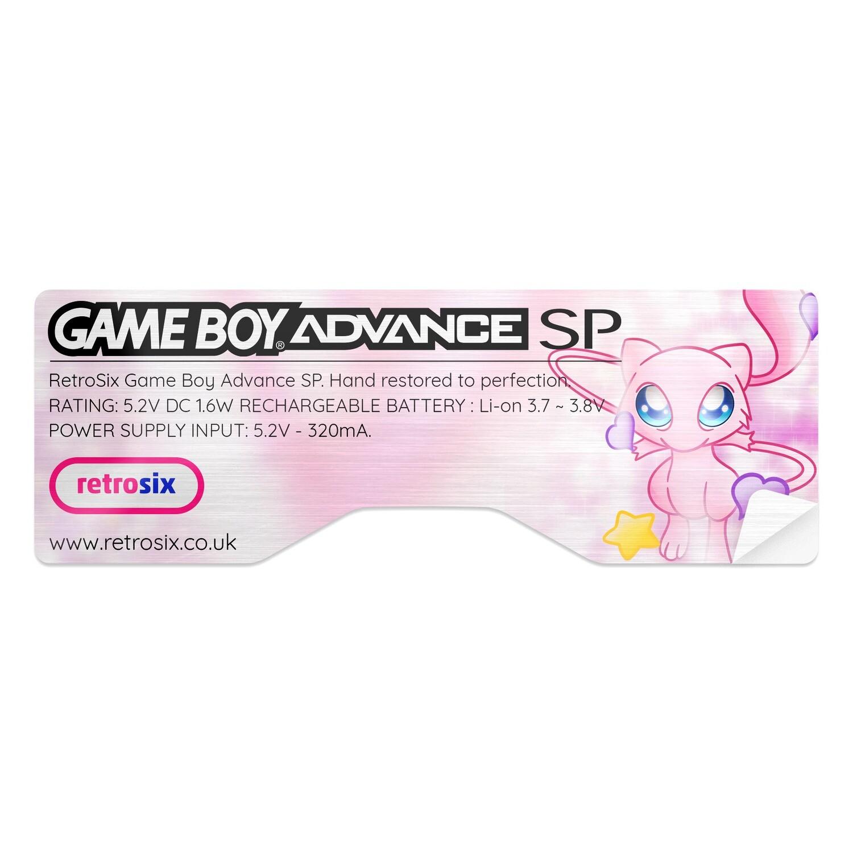 Game Boy Advance SP Sticker (Mew)