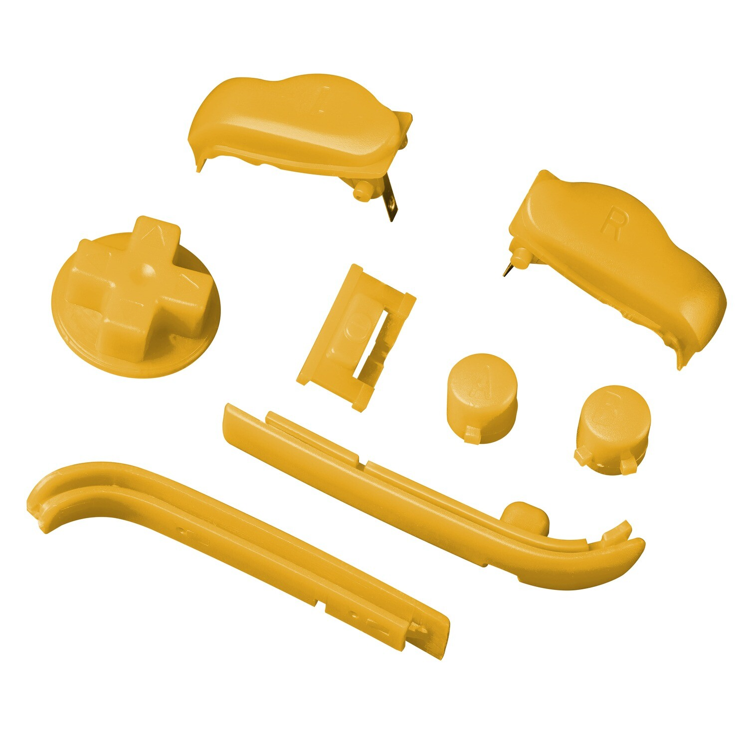 Game Boy Advance Buttons (Solid Yellow)