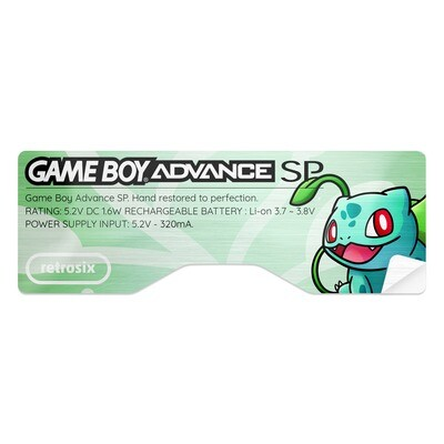 Game Boy Advance SP Sticker (Bulbasaur)