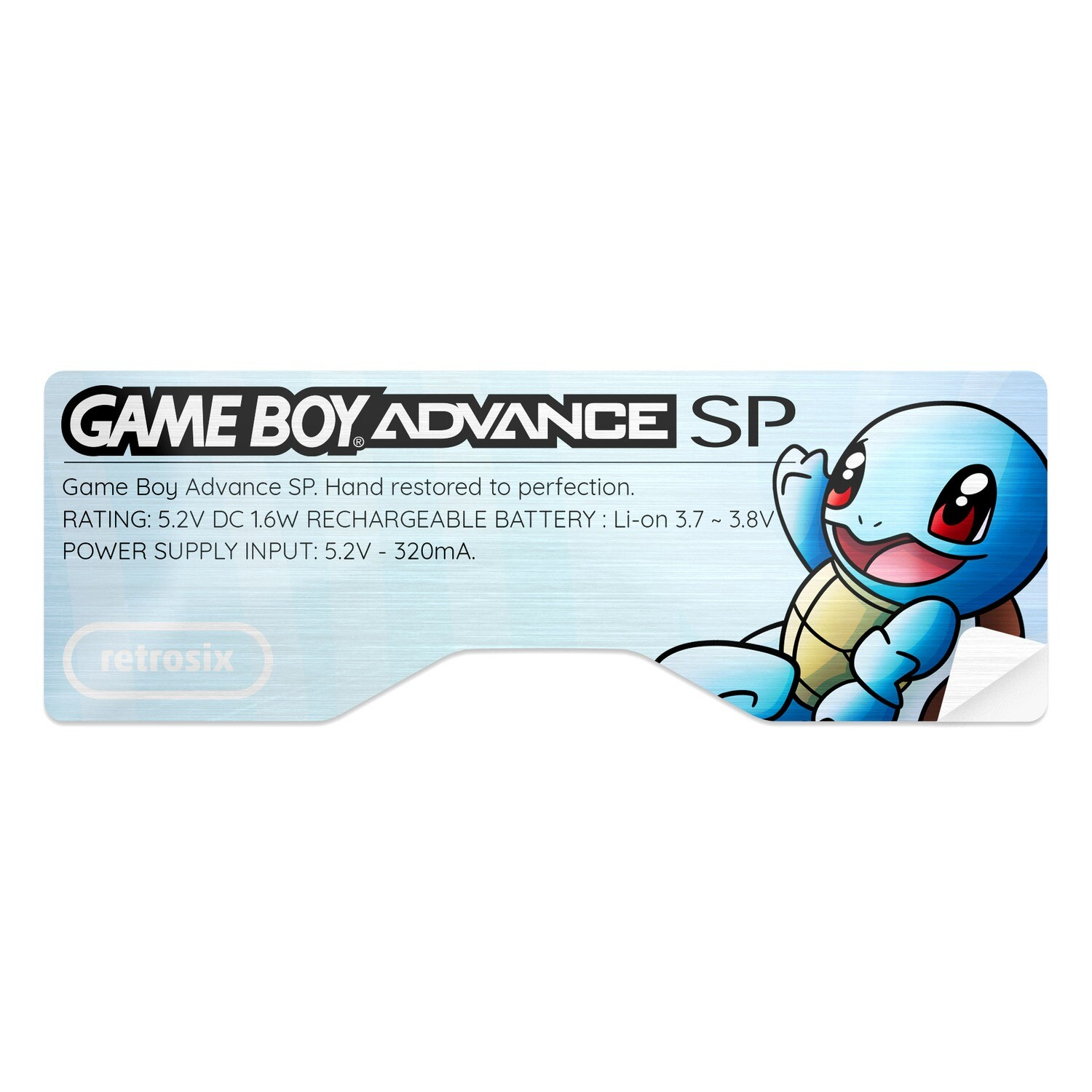 Game Boy Advance SP Sticker (Squirtle)