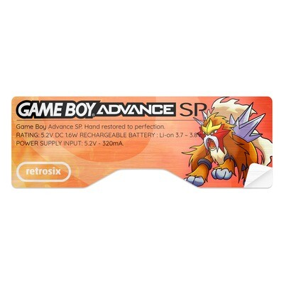 Game Boy Advance SP Sticker (Entei)