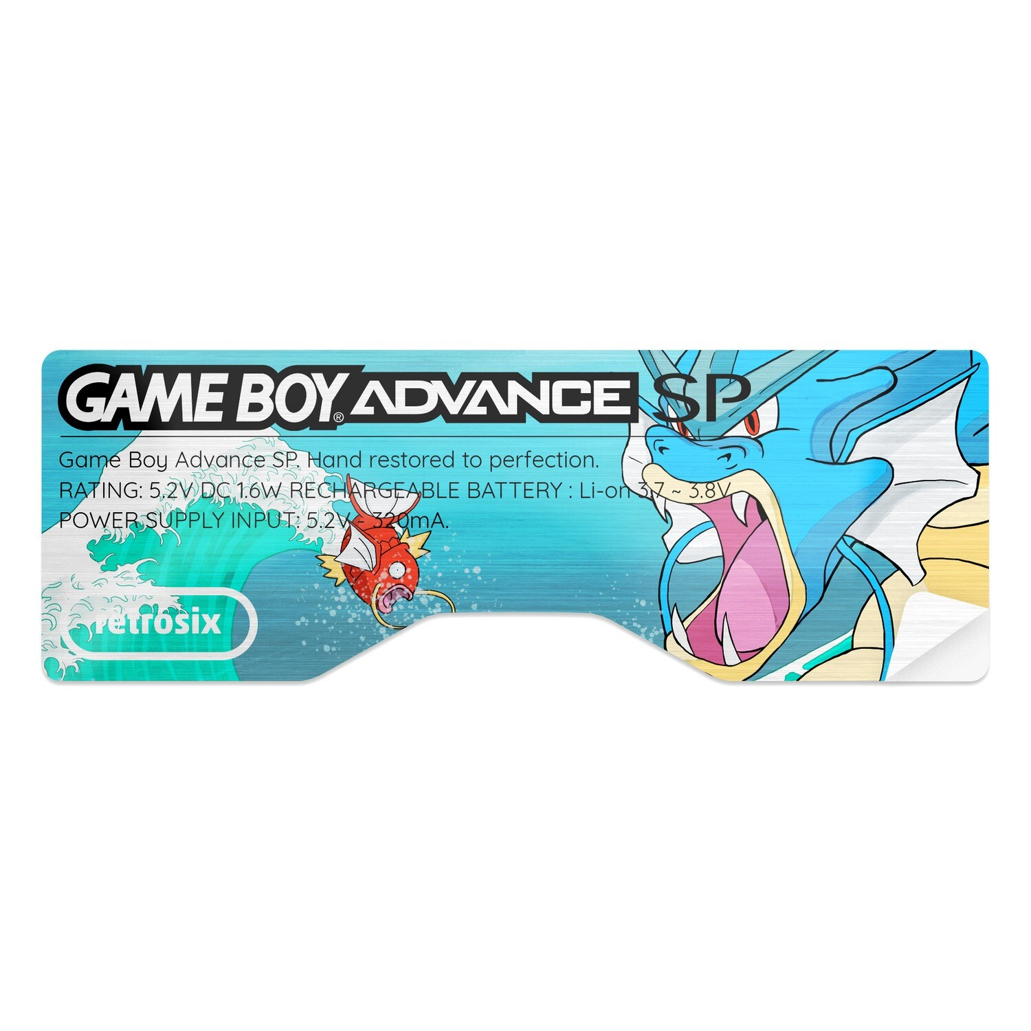 Game Boy Advance SP Sticker (Gyarados)