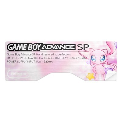 Game Boy Advance SP Sticker (Mew)
