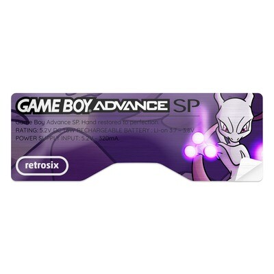 Game Boy Advance SP Sticker (Mewtwo)
