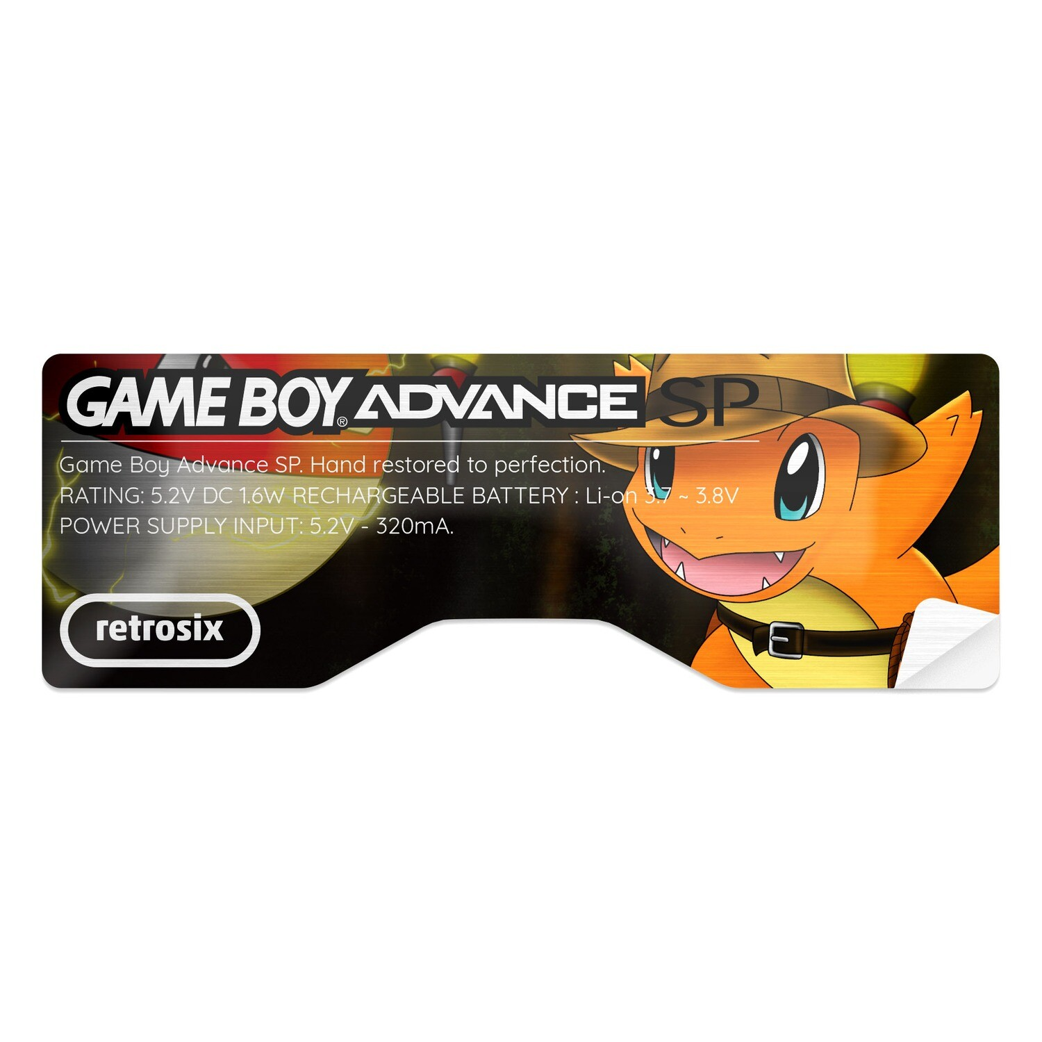 Game Boy Advance SP Sticker (Indiemander)