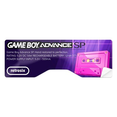 Game Boy Advance SP Sticker (Vaporwave Tape)