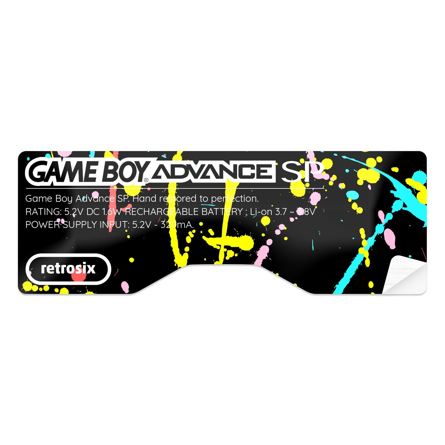 Game Boy Advance SP Sticker (Splash)
