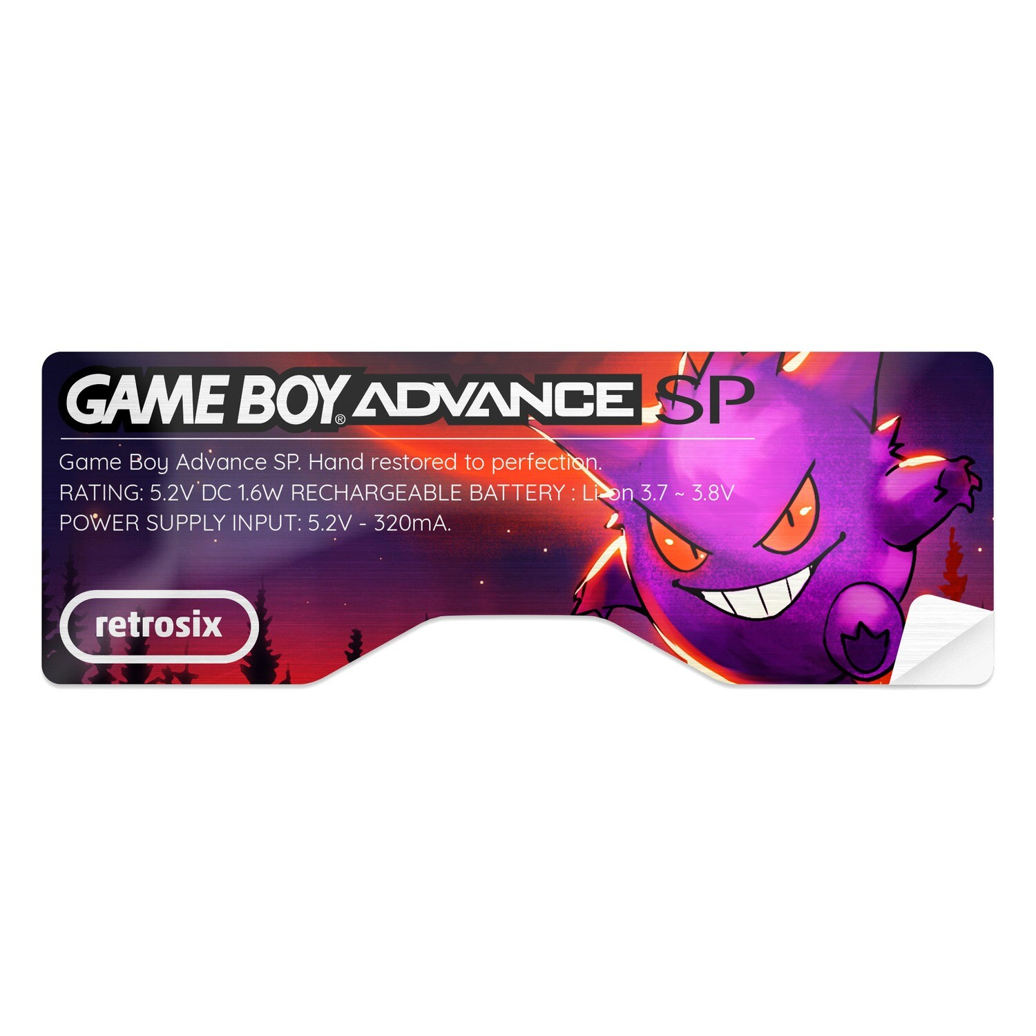 Game Boy Advance SP Sticker (Gengar)