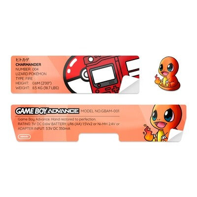 Game Boy Advance Sticker (Charmander)