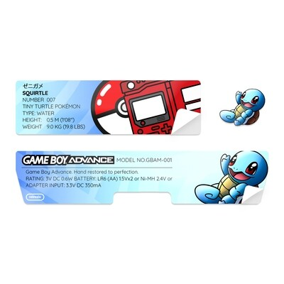 Game Boy Advance Sticker (Squirtle)