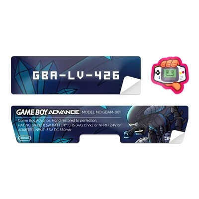 Game Boy Advance Sticker (Alien)