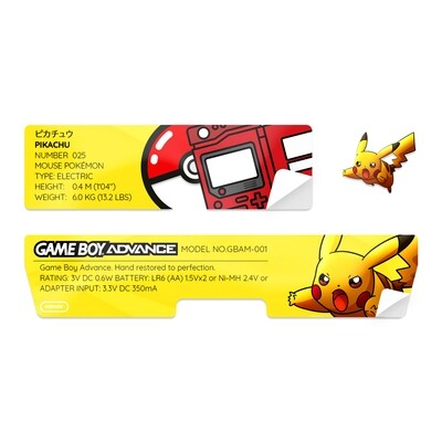 Game Boy Advance Sticker (Pikachu)