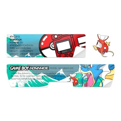 Game Boy Advance Sticker (Gyarados)