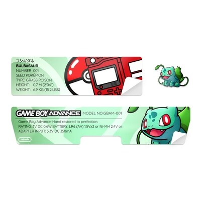 Game Boy Advance Sticker (Bulbasaur)