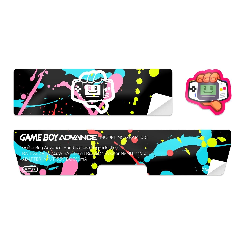 Game Boy Advance Sticker (Splash)