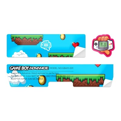 Game Boy Advance Sticker (Platformer)
