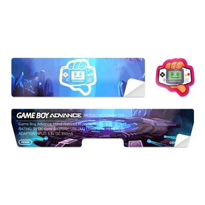 Game Boy Advance Sticker (Cave Portal)