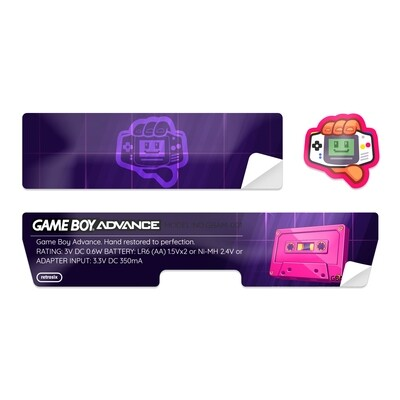 Game Boy Advance Sticker (Vaporwave Tape)
