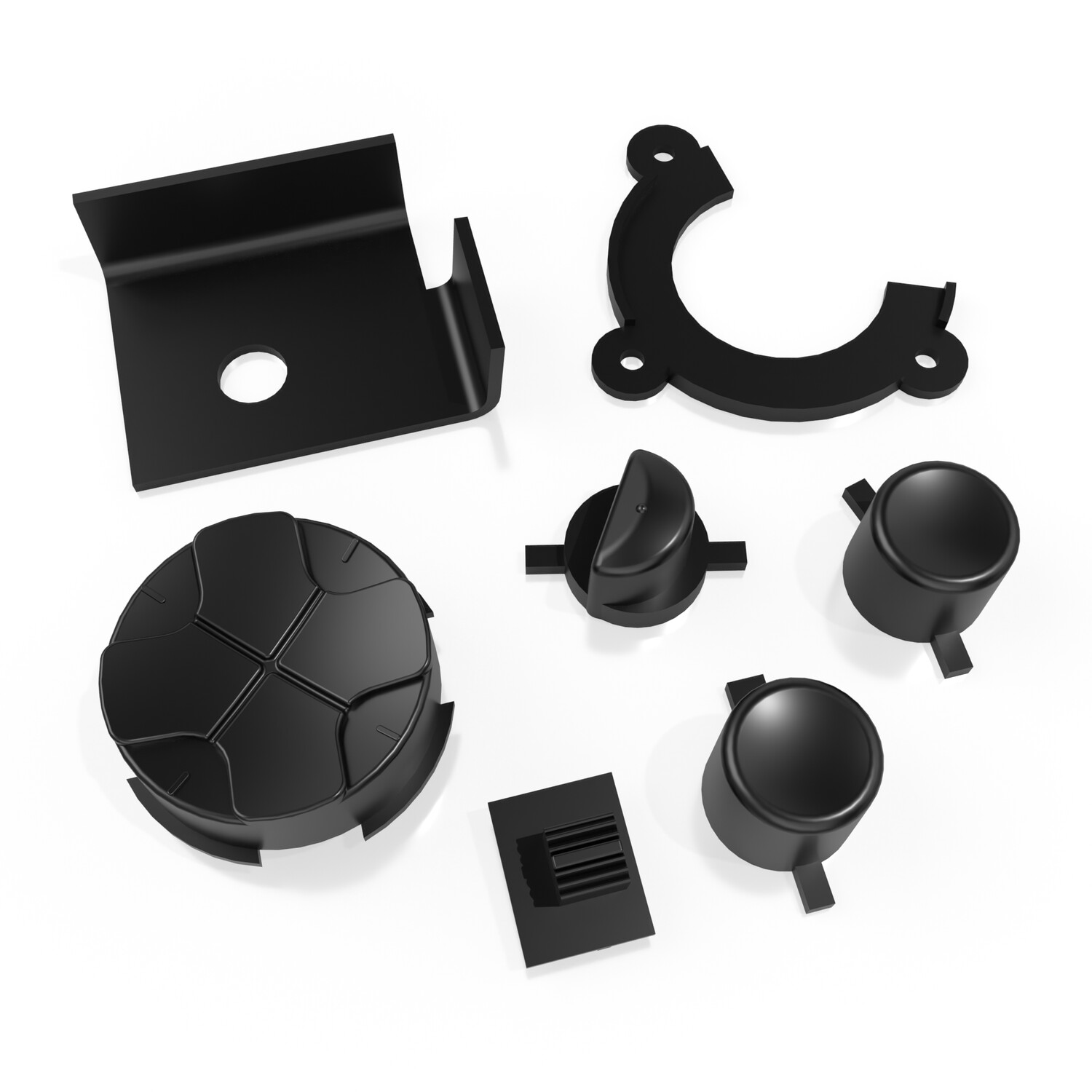 Game Gear Buttons (Black)