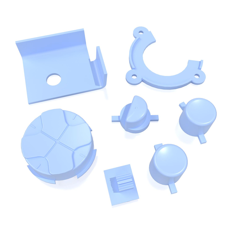 Game Gear Buttons (Light Blue)