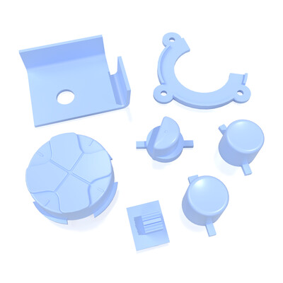 Game Gear Buttons (Light Blue)