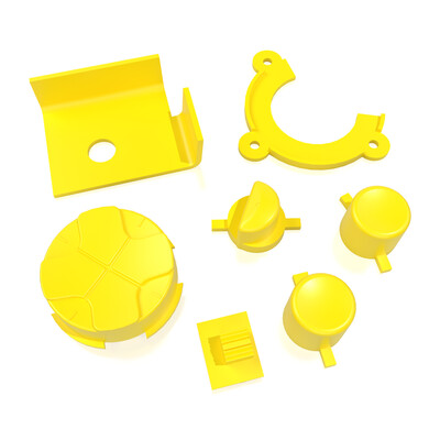 Game Gear Buttons (Yellow)